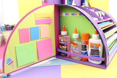 Organizador de utiles escolares unicornio