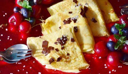 receta de los crepes dulces