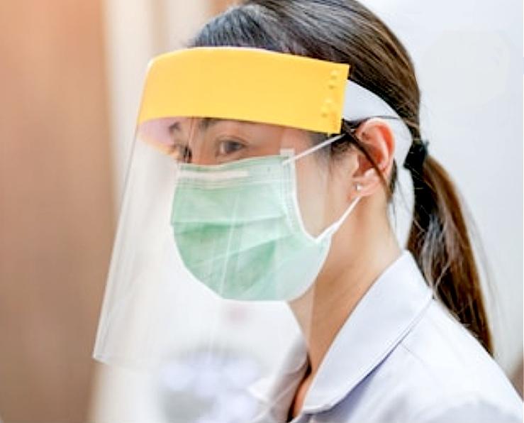 Protector facial transparente