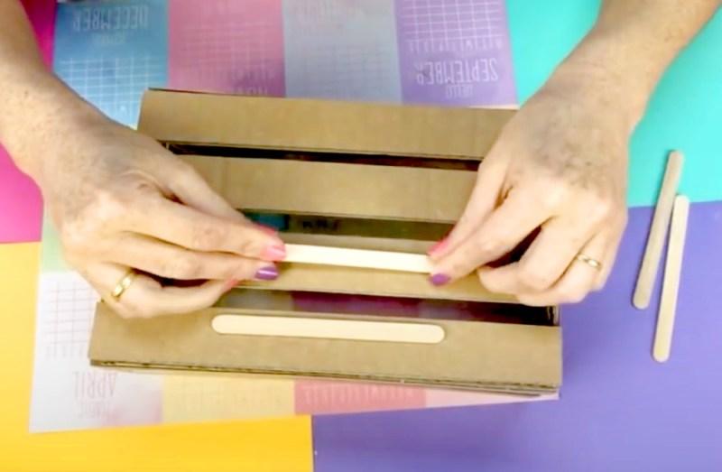 como hacer una cesta organizadora