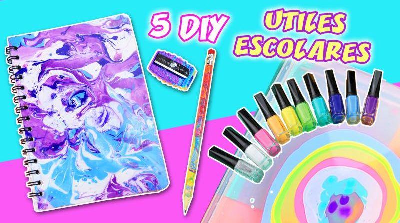 5 DIY Utiles Escolares con pintauñas
