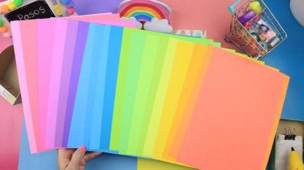 Papeles de colores para manualidades