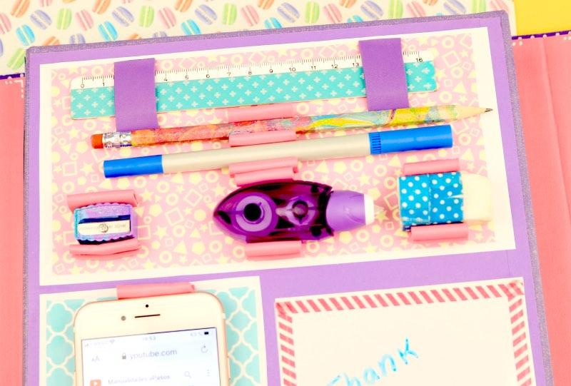 carpeta para accesorios escolares