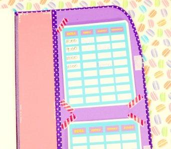 carpeta para organizar utiles escolares