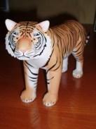 Papercraft de un tigre. Manualidades a Raudales.