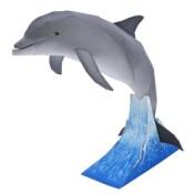 Papercraft imprimible y armable de un Delfín Mular / Bottlenose Dolphin. Manualidades a Raudales.