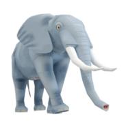Papercraft imprimible y armable de un Elefante Africano / African Elephant. Manualidades a Raudales.