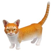 Papercraft imprimible y armable de un Gato Munchkin. Manualidades a Raudales.