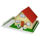 Papercraft imprimible y armable de una Casa / House. Manualidades a Raudales.