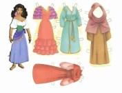 Recortable de Esmeralda de Disney. Manualidades a Raudales.