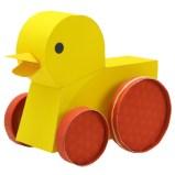 Papercraft de un Pato propulsado por goma elástica. Manualidades a Raudales.