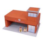 Papercraft imprimible y armable de un Cuartel de bomberos / Fire station. Manualidades a Raudales.