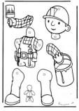 Marioneta de Bob el Constructor. Manualidades a Raudales.