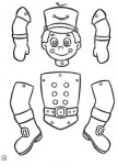 Marioneta de un soldado. Manualidades a Raudales.