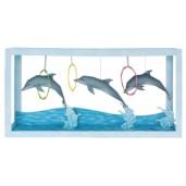 Papercraft imprimible y armable de un Acuario con delfines. Manualidades a Raudales.
