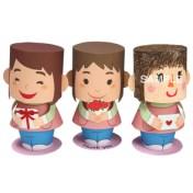 Papercraft imprimible y armable de muñecos con mensaje para el Día de la Madre. Manualidades a Raudales.