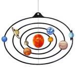 Papercraft móvil recortable y armable del Sistema Solar. Manualidades a Raudales.
