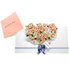 Tarjeta desplegable pop-up de un ramo de flores. Manualidades a Raudales.