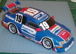 Papercraft del coche Bora 2007. Manualidades a Raudales.