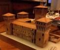 Papeercraft building recortable y armable del Castello Delle Rocche en Italia. Manualidades a Raudales.