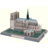 Papercraft building imprimible y armable de Notre Dame. Manualidades a Raudales.