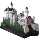 Papercraft building imprimible y armable del Castillo Neuschwanstein en Alemania. Manualidades a Raudales.