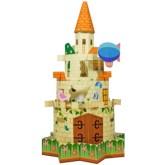 Papercraft imprimible y armable de un Castillo infantil. Manualidades a Raudales.