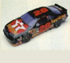 Papercraft imprimible y armable del coche Ford Thunderbird. Manualidades a Raudales.