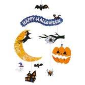 Papercraft imprimible y recortable de un móvil de Happy Halloween. Manualidades a Raudales. Móviles de Halloween.