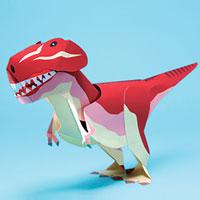 Papercraft imprimible y recortable del Tirannosaurus Rex con movimiento. Manualidades a Raudales.