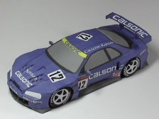 Papercraft recortable del Nissan Calsonic. Manualidades a Raudales.