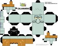 Cubeecraft de Calamardo personaje de Bob Esponja. Manualidades a Raudales.