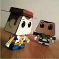 Cubeecraft imprimible de Disney de Woody. Manualidades a Raudales.