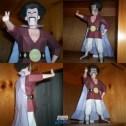 Papercraft de Dragon Ball - Mr Hércules Satan.