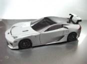 Papercraft del coche Lexus LFA. Manualiddaes a Raudales.