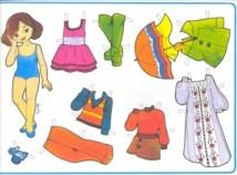 Paper dolls / Recortable muñeca 33. Manualidades a Raudales.
