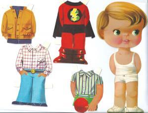 Recortable de muñecas. Manualidades a Raudales.