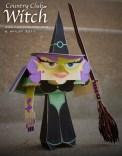 Papercraft infantil de una bruja. Manualidades a Raudales.