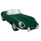 Papercraft del coche Jaguar tipo E. Manualidades a Raudales.