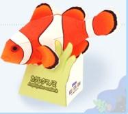 Papercraft imprimible y armable del pez Payaso. Manualidades a Raudales.