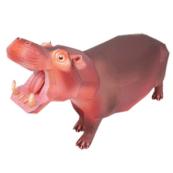 Papercraft imprimible y armable de un Hipopotamo / Hipopotamus. Manualidades a Raudales.