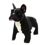Papercraft imprimible y armable de un Perro Bulldog Francés / French Bulldog. Manualidades a Raudales.