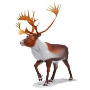 Papercraft imprimible y armable de un Reno / Reindeer. Manualidades a Raudales.