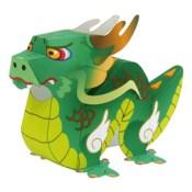 Papercraft imprimible y armable de un dragón. Manualidades a Raudales.