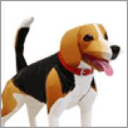 Papercraft imprimible y armable del Perro Beagle. Manualidades a Raudales.