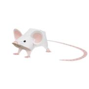 Papercraft imprimible y armable de un ratón / mouse. Manualidades a Raudales.