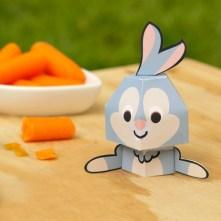 Papercraft recortable del conejo Tambor de Disney. Manualidades a Raudales.