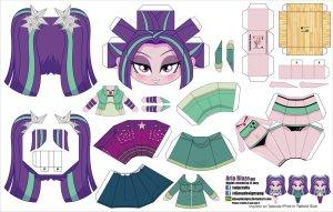 Papercraft de Anime - Aria Blaze. Manualidades a Raudales.