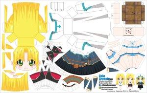 Papercraft de Anime - Asia Argento. Manualidades a Raudales.
