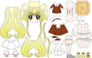 Papercraft de Anime - Chii. Manualidades a Raudales.